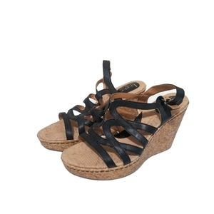 Born Concepts Leather Wedge Sandal 10m